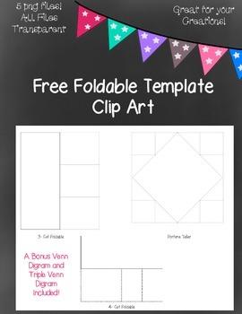 Free Foldable Template Clip Art ~ Transparent - 5 png images
