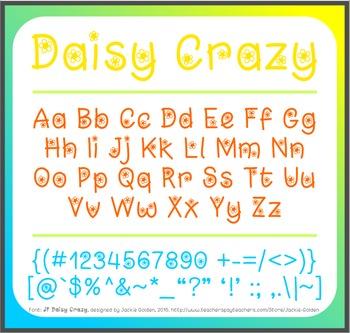 Free Font: Daisy Crazy (True Type Font)
