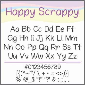 Free Font: Happy Scrappy (True Type Font)