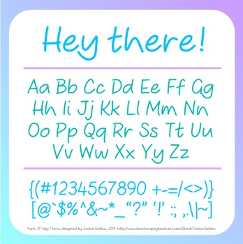 Free Font: Hey There! (True Type Font)