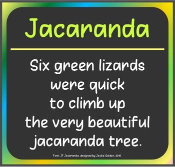 Free Font: Jacaranda (True Type Font)