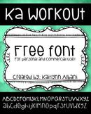 Free Font - KA Work Out