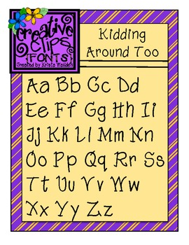 {Free Font} Kidding Around Too {Creative Clips Fonts}