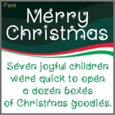 Free Font: Merry Christmas (True Type Font)