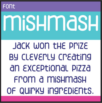 Free Font: Mishmash (True Type Font)