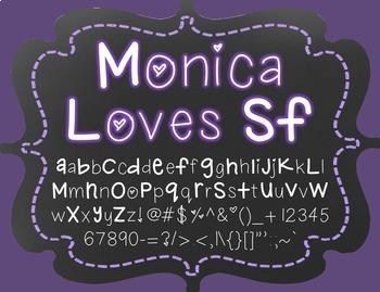 {FREE} Font - Monica Loves SF