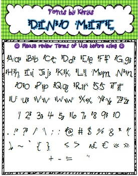 Free Font - Personal or Commercial Use: KB DinoMite