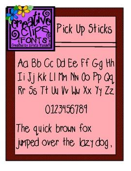 {Free Font} Pick Up Sticks Font {Creative Clips Fonts}