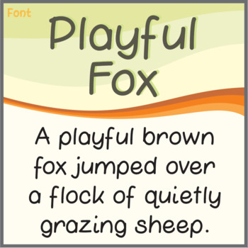 Free Font: Playful Fox (True Type Font)