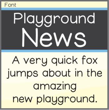 Free Font: Playground News (True Type Font)