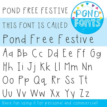 Free Font - Pond Free Festive