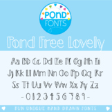 Free Font - Pond Free Lovely