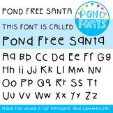 Free Font - Pond Free Santa