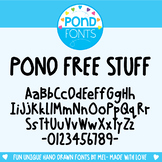 Free Font - Pond Free Stuff