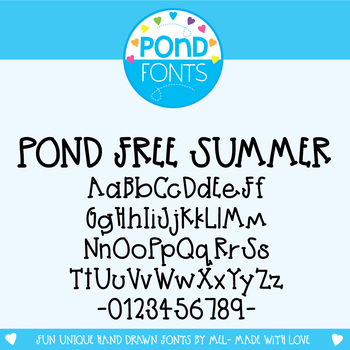 Free Font - Pond Free Summer