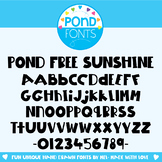 Free Font - Pond Free Sunshine