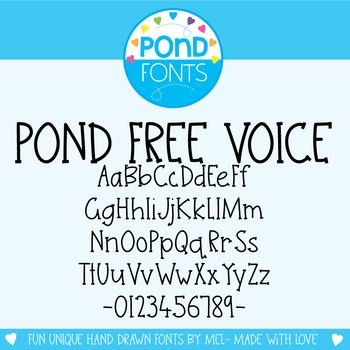 Free Font - Pond Free Voice