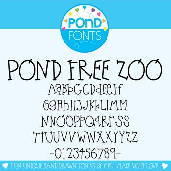 Free Font - Pond Free Zoo