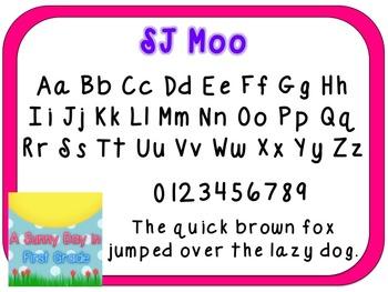 {Free Font!} SJ Moo