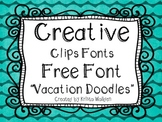 {Free Font} Vacation Doodle Font{Creative Clips Fonts}