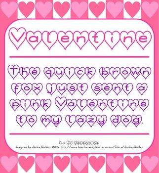 Free Font: Valentine (True Type Font)