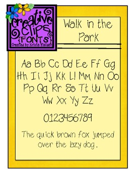 {Free Font} Walk in the Park Font {Creative Clips Fonts}