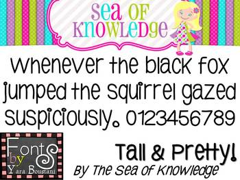 Free Font YB (Yara Boustani) Tall & Pretty! {The Sea of Knowledge}