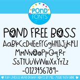 Free Fonts - Pond Free Boss