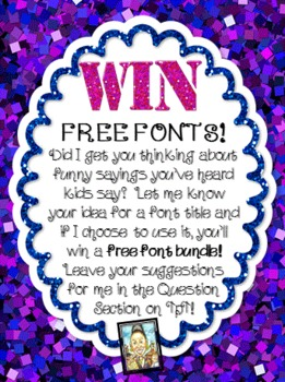 Free Fonts~Kids Say the Darndest Things, Cara Taylor