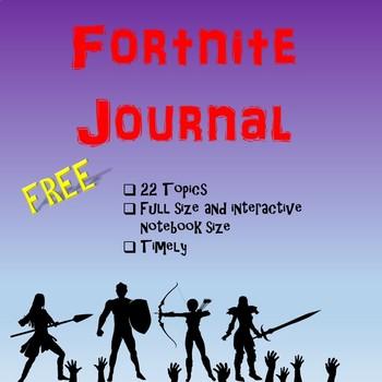 Free Fortnite Journal 7th-12th grades