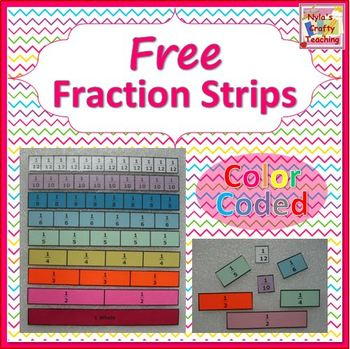equivalent fractions fraction strips 3rd 4th grade worksheet ...