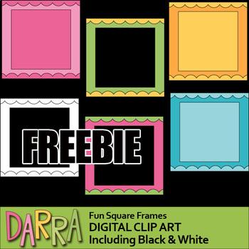 Free Frames Clip Art - Fun Square Frames Clipart (teacher resource clipart)