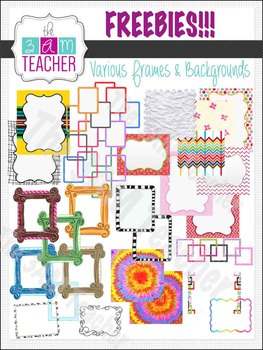 Free Frames & Backgrounds by The 3AM Teacher!!!