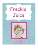 Free Freckle Juice 20 page unit aligned to the common core