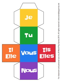 Free French Pronoun Dice