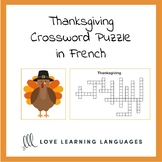 Free French Thanksgiving Crossword Puzzle