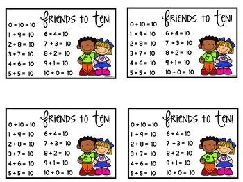Free Friends to Ten Desk Charts
