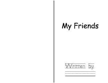 Free Friendship Student Writing Book