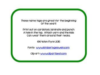 Free Frog Name Badges