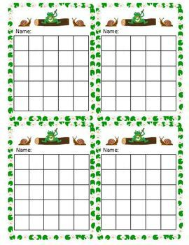 Free Frog with banjo sticker chart