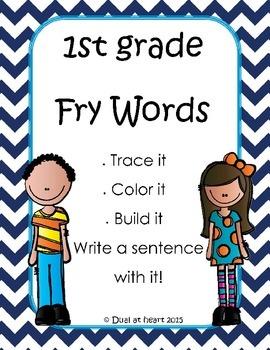 Free Fry Words Worksheets (HFW)