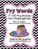 ~Free~ Fry Words on Chevron {First 100 Words}