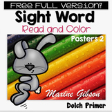 Free Full Version Sight Word Read and Color Posters Primer