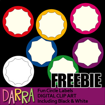 Free Fun Circle Labels Clipart for Back To School Activities