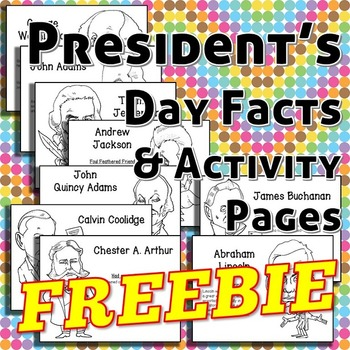 Free Fun Presidential Facts and Coloring Activity Pages