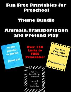 Free Fun Printables for Preschool--Animals, Pretend Play and Transportation
