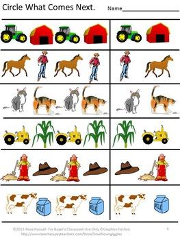 Free Farm Math Worksheets
