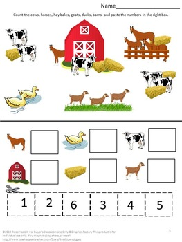 Free Farm Math Worksheets by smalltowngiggles   Teachers Pay Teachers