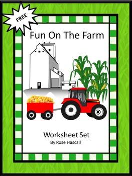 Farm Math Worksheet Set-Free