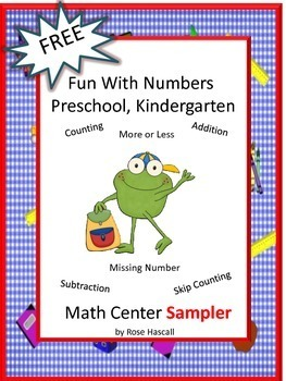 Free Fun With Numbers Preschool Kindergarten Math Center Sampler.